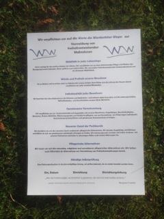Plakat Werdenfelser Werte A1