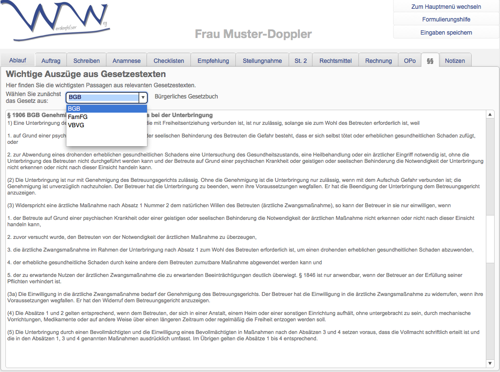 WWA-Gesetzestexte