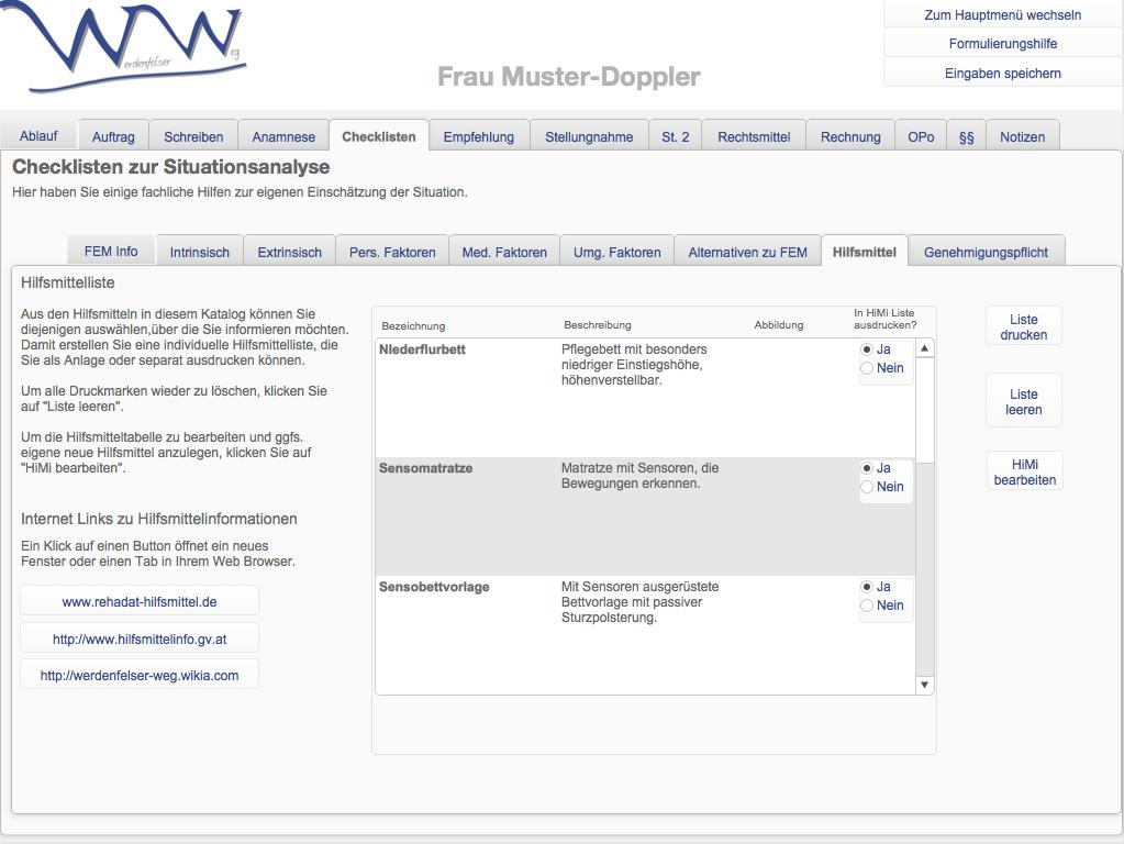 WWA-Hilfsmittelliste
