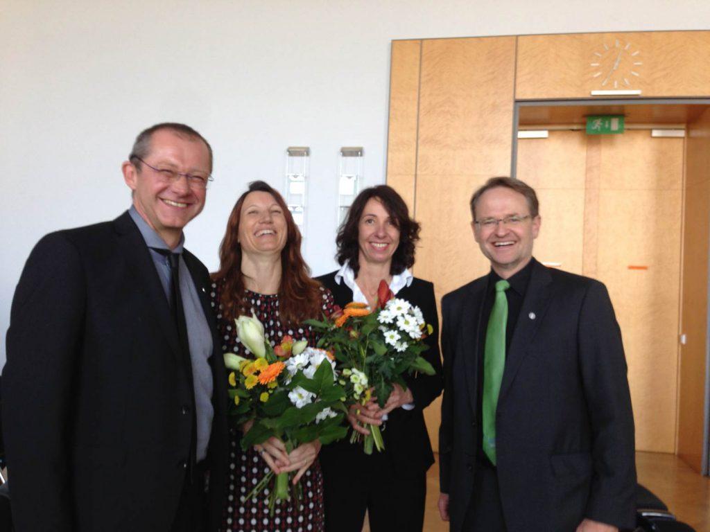 gemeinsam mi unseren allerersten Verfahrenspflegerinnen Frau Sabine Zirngibl und Frau Maria Pantele