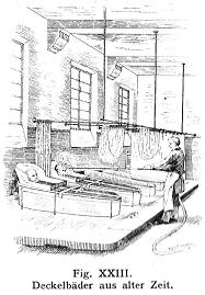 Deckelbad, Aus: PSYCHIATRIE - EIN LEHRBUCH FÜR STUDIERENDE UND ÄRZTE VON Dr. EMIL KRAEPELIN, ACHTE AUFLAGE 1909
